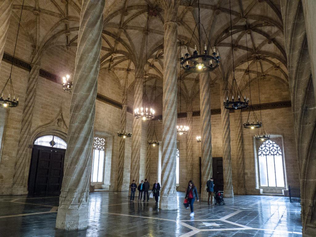 Interiores de la Lonja de Merrcaderes Valenciana