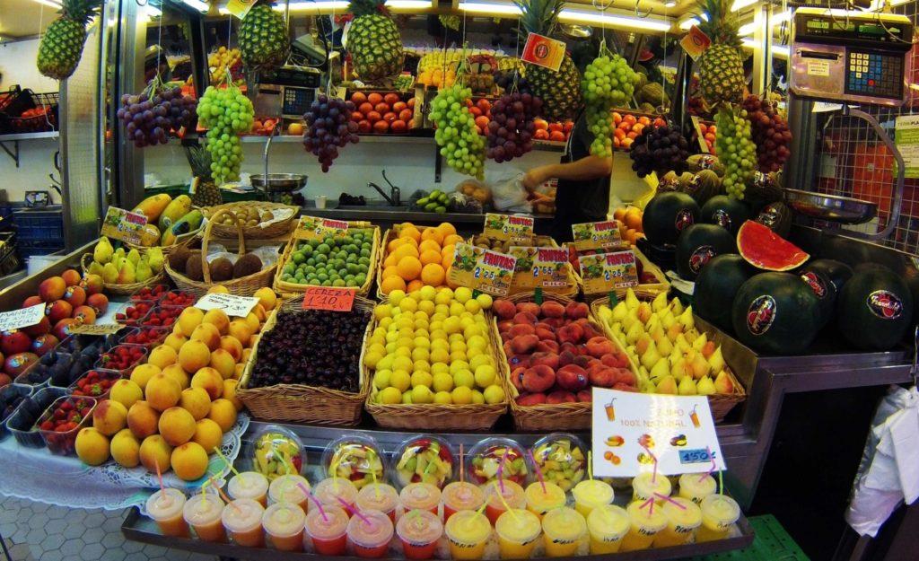 Puesto de zumos en el Mercado Central