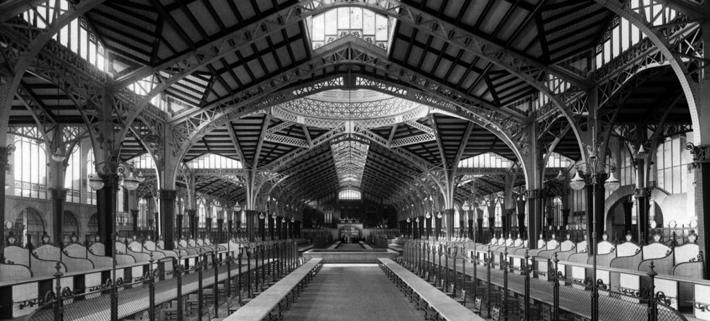 Foto antigua del Mercado Central de Valencia